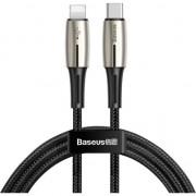 Cablu de date/incarcare Baseus, Water Drop Lamp Lightning/USB Type-C, 1.3M 18W, Negru