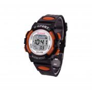 Reloj HONHX Impermeable Digital LED Deportes Fecha De Alarma Niños-naranja