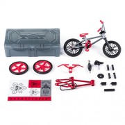 Tech Deck BMX Bike Shop with Accessories and Storage Container WeThePeople Bikes Silver & Red