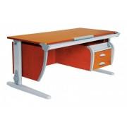 Дэми Стол универсальный трансформируемый СУТ.15-03 (столешница яблоня)