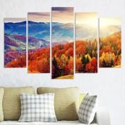 Декоративeн панел за стена с приказен есенен пейзаж Vivid Home