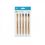 The Humble Co Toothbrush Flat Curved - Soft Adult 5-pack
