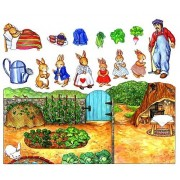 A Peter Rabbits Tale Felt Figures for Flannelboard Stories- Precut Peter Rabbit Like Story