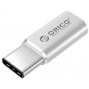 Adaptor Orico CTM1-SV, USB 2.0 tip C - microUSB (Argintiu)