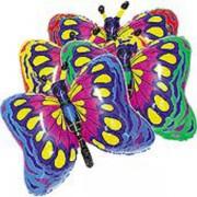 Fólia lufi, mini forma, rószaszín pillangó