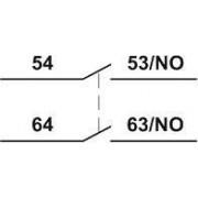 Homlokoldali segédérintkező TR1K segédkontaktorokhoz - 230V, 50Hz, 2A, 2xNO TR5KN20 - Tracon