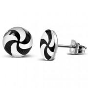 Cercei inox cu spirale