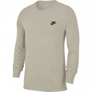 Bluza barbati Nike Club Long Sleeve T-shirt In Beige AQ7141-221