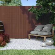 Jarolift Canisse en PVC Premium, largeur des lamelles 17 mm, Brun, 220x500 cm