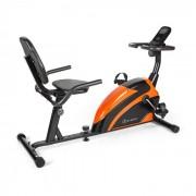 Klarfit Relaxbike 6.0 SE Ergomètre couché volant d'inertie 12 kg - noir & orange