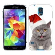 Husa Samsung Galaxy S5 Mini G800F Silicon Gel Tpu Model Craciun Christmas Kitty