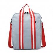 Stříbrná pánská multifunkční cestovní taška do ruky i přes rameno