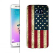 Husa Samsung Galaxy S6 Edge G925 Silicon Gel Tpu Model USA Flag