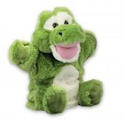 Merkloos Groene krokodillen handpoppen knuffels 22 cm knuffeldieren