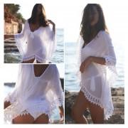 Vestido De Playa Genèrico Para Mujer-Blanco