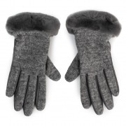 Дамски ръкавици UGG - W Fabric Lthr Shorty Glove 18813 Charcoal