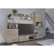 Smartshop Obývací stěna BRECKEN, dub sonoma