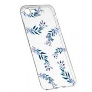 Husa Silicon Transparent Slim Blue Flowers 116 Apple iPhone 6 6S