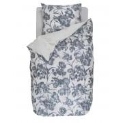 Esprit Exkluzivní šedá postel, bavlněné povlečení na postel, saténové povlečení, obrázkové povlečení, malované květiny, šedá barva, Esprit, 155 x 220 cm -…