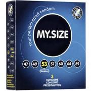 """Презервативи """"MY SIZE"""" 3 бр. 53 мм. за пениси 11 - 12 см."""
