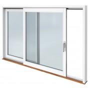 Traryd fönster Skjutdörr A alu 3680x2090mm vänster 3-glas härdat in och utsida