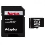 Hama MicroSDHC 16GB med adapter, Class 10