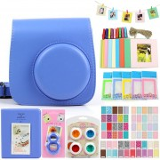 Bolsa Para Fuji Mini8/8+/9 Conjunto Para Fotos - Azul