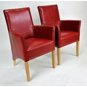 ANATOL SMALL Ledersessel Armlehnstuhl Echtleder Beine aus Buche oder Eiche