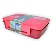6th Dimensions Premium Lunch Box Air tight and Microwave Safe with Spoon (Red)