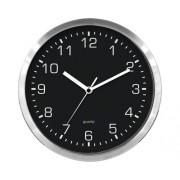 Ceas de perete, metal, negru Ø 25 cm