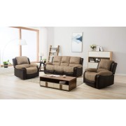 Montana Jumbo Cord Reclining Full Sofa Set - Brown or Grey - Brown 3S+1R+1R