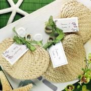 Natural Tropical Buri Straw Fans