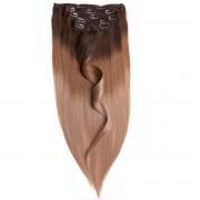Rapunzel® Extensions Naturali Kit Clip-on Original 7 pezzi O2.0/7.5 Medium Brown Ombre 50 cm