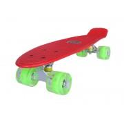 Sportmann Penny board Mad Cruiser cu roti LED ABEC 7-rosu