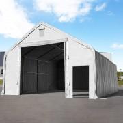 Profizelt24 Lagerhalle 10x20m PVC grau Zelthalle, Lager, Industriezelt