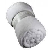 Plaid Polaire BŽbŽ TENDRESSE - 90 X 90 - Blanc