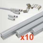 Silamp Tube néon LED 150cm T5 24W (Pack de 10) - couleur eclairage : Blanc Froid 6000K - 8000K