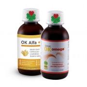 OK Alfa+ 115 ml. + OK Omega+ 115 ml. ( sada na kožní problémy, pleť, vlasy a nehty )