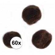 Rayher hobby materialen Kleine bruine bolletjes 15 mm