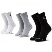 Комплект 3 чифта дълги чорапи мъжки NIKE - SX5545 019 Бял Сив Черен