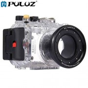 JIAIIO PULUZ 40m Underwater Depth Diving Case Waterproof Camera Housing for Sony RX100 III Transparent Lightweight Protective Cover