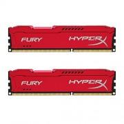 HyperX Fury HX316C10FRK2/16 DD3-RAM Werkgeheugen 16GB (1600MHz, CL10, 2x 8GB), rood