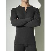 Hom Тёплая и очень удобная мужская футболка серого цвета HOM Cocooning 03345cZ9