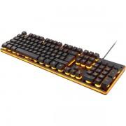GAMING tangentbord, membranbrytare, nordisk, orange belysning