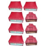 Afrose High Quality Combo of Parchute Plain 5PC Saree Cover 3PC Blouse Cover Capacity 10-15 Units Saree/Blouse Each(Maroon)