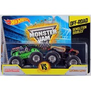 Hot Wheels Monster Jam Off-Road Demolition Doubles Grave Digger Vs. Monster Mutt - 1:64 Scale