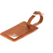 UMDA Genuine Leather Baggage TAG, Name TAG Luggage Tag(Orange)
