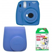 Pack Instax Mini 9 + 10 Films Y Funda - Cobalt Blue