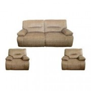 Set canapea 3 locuri si 2 fotolii cu reclinere manuale Md 5073