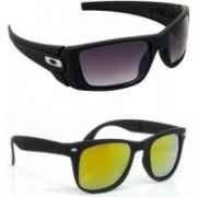 Hrinkar Wrap-around Sunglasses(Yellow, Violet)